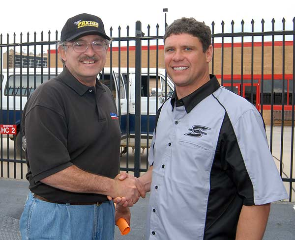 Gil Cormaci of Vortech Superchargers with Mike Brillanti of Speedfactory