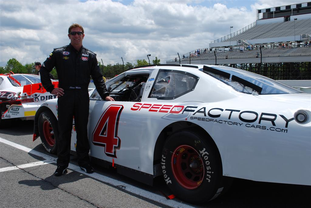 Chase Miller with the Landmark Dodge/SpeedFactory ARCA Dodge Charger race car